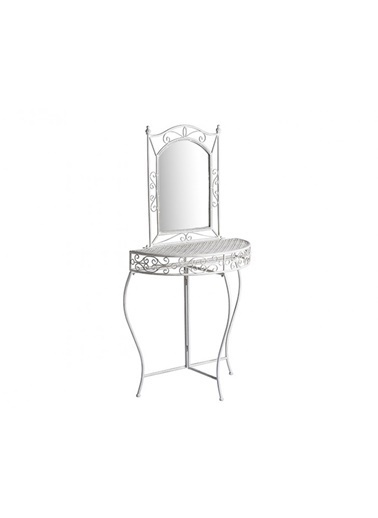 Porio Beyaz Eskitme Dresuar+Ayna 77X75 Renkli